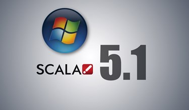 New Scala 5.1 Software Supports Digital Signage Networks Operating on Windows® 7 Platform
